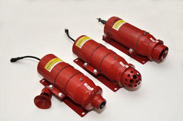 Powder fire extinguishing module